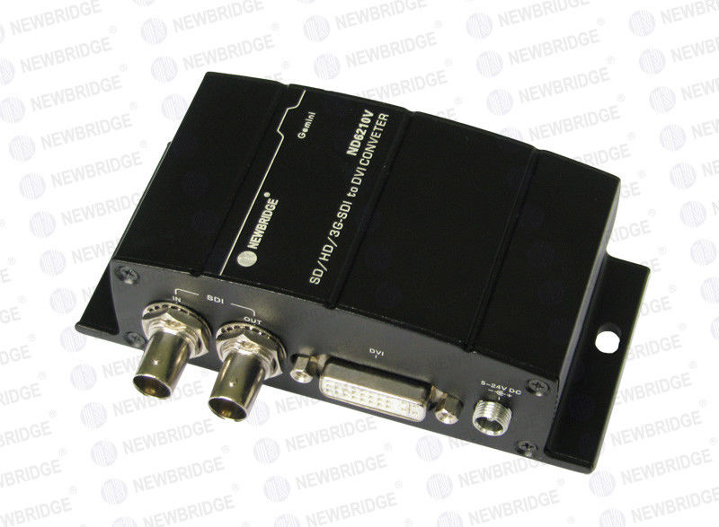 3G SDI Fiber Optic Transceiver 75ohms , Convenient HD Multimode Transceiver