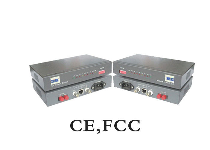 G8.23 Standard MM To Rack Unit Converter E1 Fiber Modem 850nm SC 2km