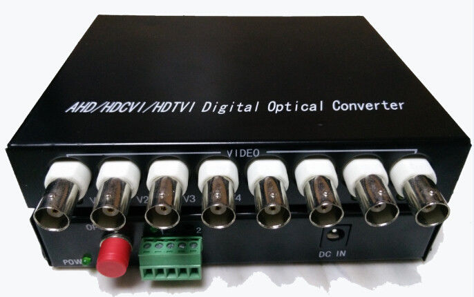 1080P HD TVI / CVI / AHD Transmitter Receiver , Fiber Optic To BNC Digital Video Converter