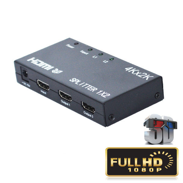 4K 1.4b 1 HD HDMI Splitter Input 2 Output 5V 1A 2 Way Support 3D Video