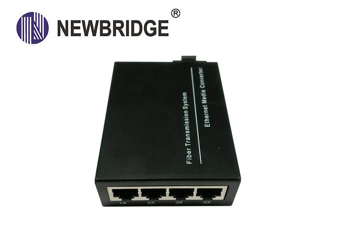 100BASE-TX/FX ,IEEE802.3, Ethernet To Fiber Media Converter dual fiber Singel Mode for 4 ports