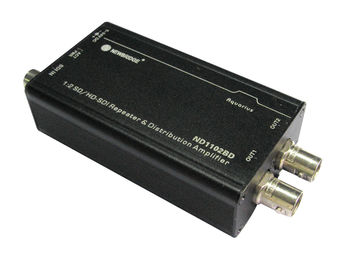 1 input 2 output splitter audio 1080P SDI splitter 1X2 SD / HD / 3G-SDI Repeater