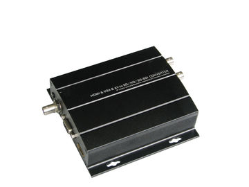 Cina 60Hz HDMI Fiber Optic Transceiver 300g, Single Mode Transceiver SD SDI 400m 1300ft pabrik