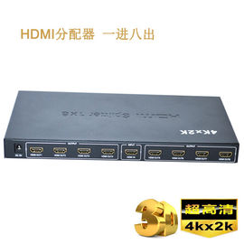 Cina Video 3D 4K HD HDMI Splitter 1 x 8 HDMI Splitter 1 In 8 Out pabrik
