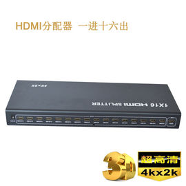 Cina 4K 1.4b 1 x 16 HD HDMI Splitter 1 in 2 out di HDMI Splitter, mendukung Video 3D pabrik
